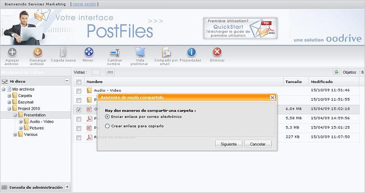 envio archivos pesados